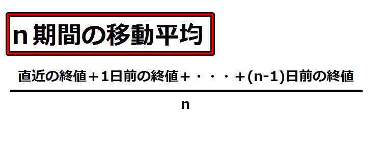 SMA計算式